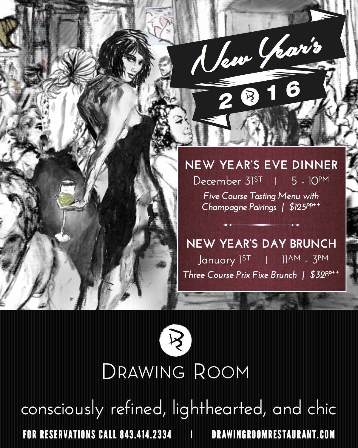 Past Event Drawing Room New Year S Eve Day The Vendue