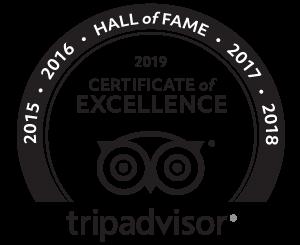 2019 Certificate of Excellence TripAdvisor Logo