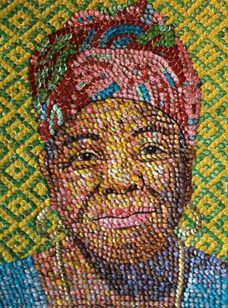 _Maya Angelou_ bottle caps 57_x43_ by Molly B. Right