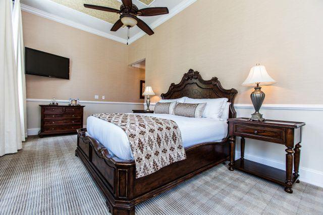 Premiere King Charleston Hotel Room Bedroom at The Vendue