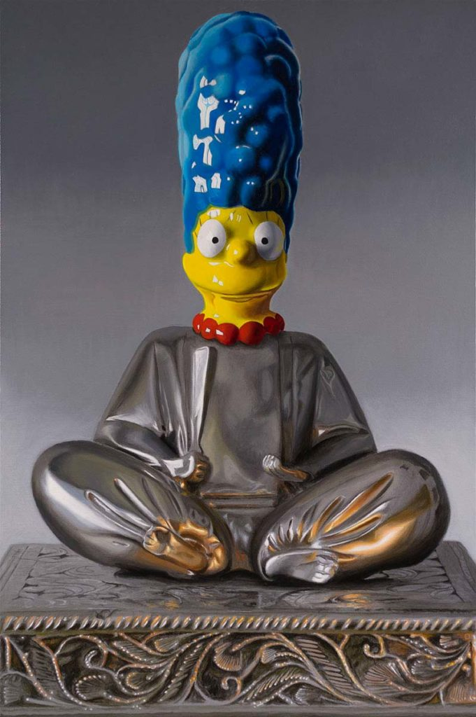 _Buddha Marge_ oil on canvas 24_x36_ by Tony Chimento- Represented by Robert Lange Studios