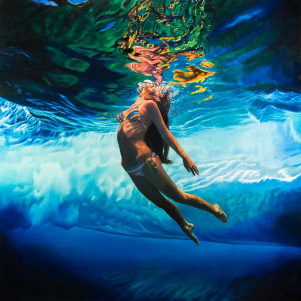 _Beyond the Wave_ oil on panel 45_x45_ by Matt Story- Represented by Robert Lange Studios